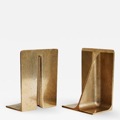 Henry Wilson Bronze Bookends by Henry Wilson
