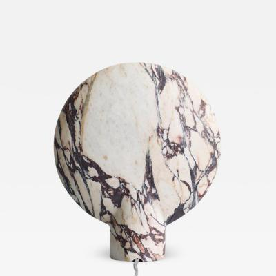 Henry Wilson Sculpted Calacatta Viola Marble Lamp by Henry Wilson
