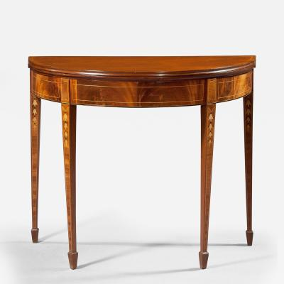 Hepplewhite Demi Lune Card Table