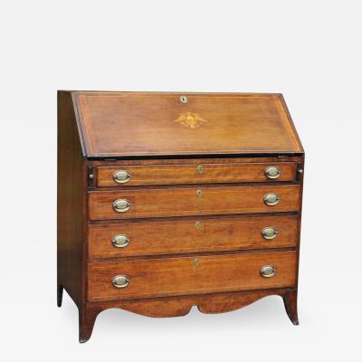 Hepplewhite Slant Front Desk w Inlay