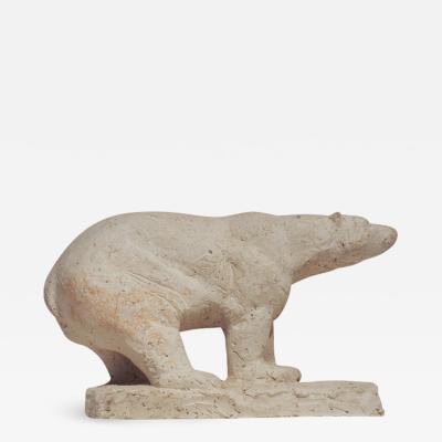 Herbert Geldhof Polar Bear Sculpture by Herbert Geldhof