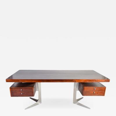 Herbert Hirche Herbert Hirche Minimalist Top Series Executive Desk in Rosewood