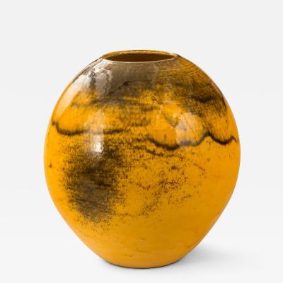 Herman H C K hler A Large Danish Uranium Glazed Round Vase