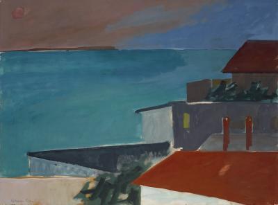 Herman Maril Evening Rooftops Provincetown