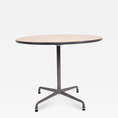 Herman Miller Charles Eames Aluminum Group Office Cafe Table Herman Miller 1960s