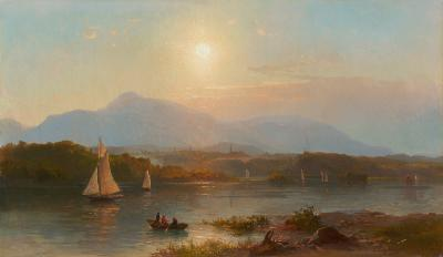 Hermann Fuechsel Boating on the Hudson 1869