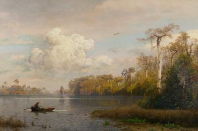 Hermann Herzog River Landscape Florida