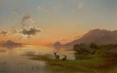 Hermann Herzog Twilight 1876