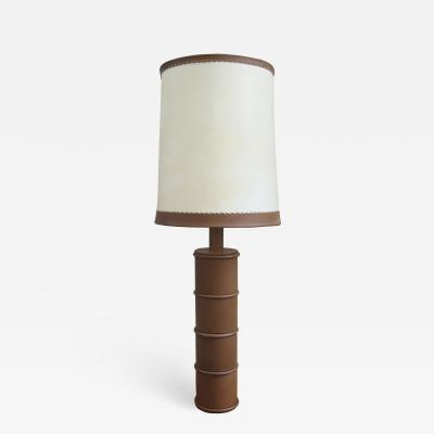 Hermes Leather Table Lamp
