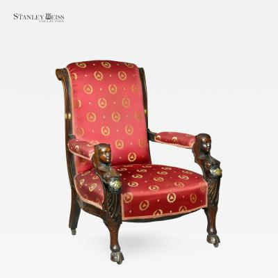 Herter Brothers A Carved Mahogany Egyptian Revival Armchair New York c 1860 Herter Brothers