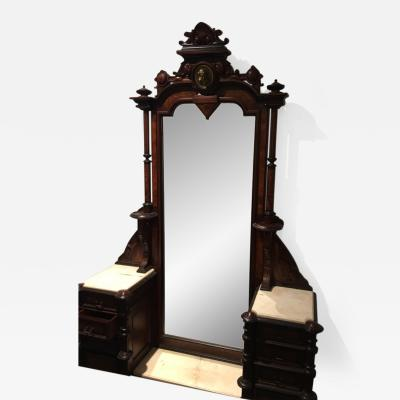 Herter Brothers ORNATE VICTORIAN VANITY WITH BRONZE WOMENS HEAD CREST