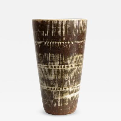 Hertha Bengtson Hertha Bengtsson designed Swedish mid century vase produced at Rorstrand Studio