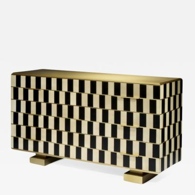 Herv Langlais Op Art Chest of Drawers