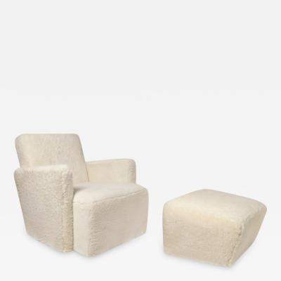 Herv Langlais Petit Frank Chair in Sheepskin
