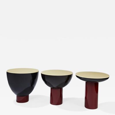 Herv Langlais SILENCE SIDE TABLES LACQUER