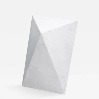 Herv Langlais Selette Rhythm Pedestal Table Carrara Marble
