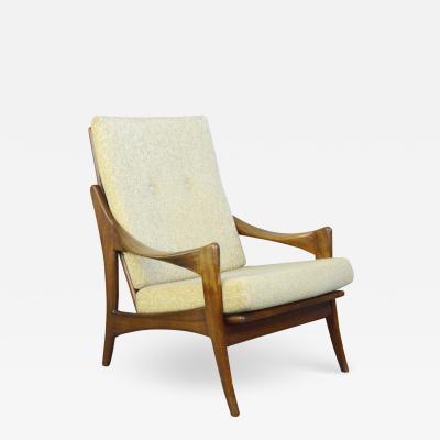 High Back Mid Century Lounge Chair By Gelderland Circa 1950s