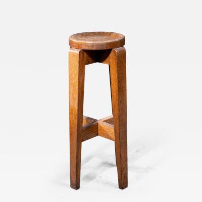 High Modernist French oak stool 1940s