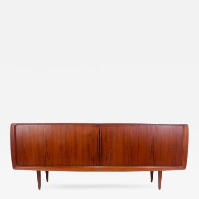 High Style Danish Modern Credenza With Tambour Doors