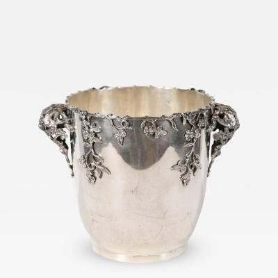 Highly Decorative Italian Silver Wine Cooler Centerpiece