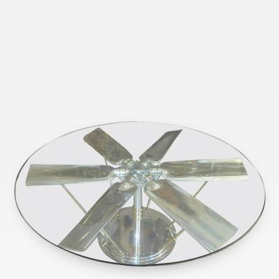 Highly Polished Six Blade Propeller Dining or Conference Table