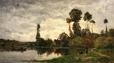 Hippolyte Camille Delpy Along the River at Tournedos sur Seine Normandy