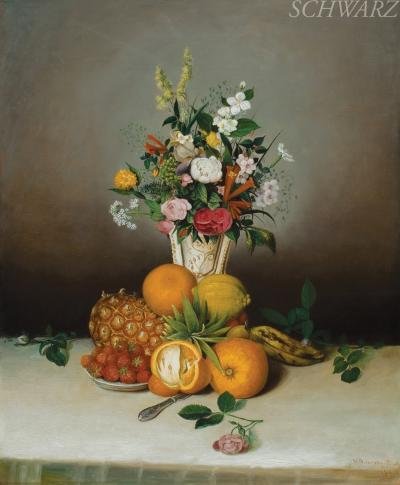 Hiram Dwight Torrey Still Life with Flowers and Fruit
