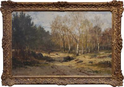 Hiram Reynolds Bloomer Landscape Painting signed by Hiram Reynolds Bloomer