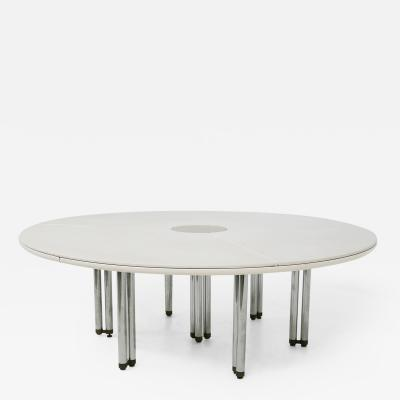 Hiroyuki Toyoda Large Italian White Table from the Series Bisanzio 1980s