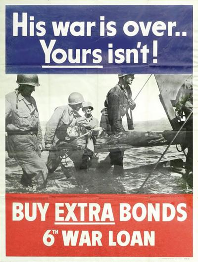 His War Is Over War Bond Poster