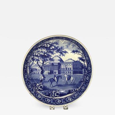 Historical Staffordshire Capital Washington Potato Bowl Circa 1825