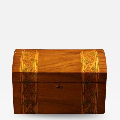 Historicism Casket Box Walnut Maple and Plum South Germany circa 1880