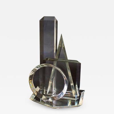 Hivo G Van Teal American Modern 3 Dimensional Lucite Sculpture Hivo Van Teal