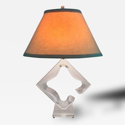 Hivo G Van Teal Vintage Sculptural Lucite Table Lamp Hivo G Van Teal