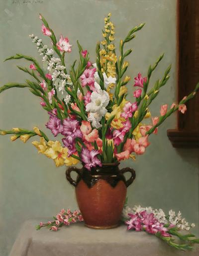 Holly Hope Banks Gladiolus and Delphinium