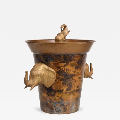 Hollywood Regency Elephant Ice Bucket