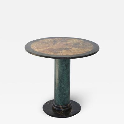 Hollywood Regency Hand painted Faux Marble Center Hall Side Table