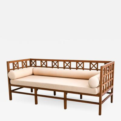Hollywood Regency Lattice Sofa