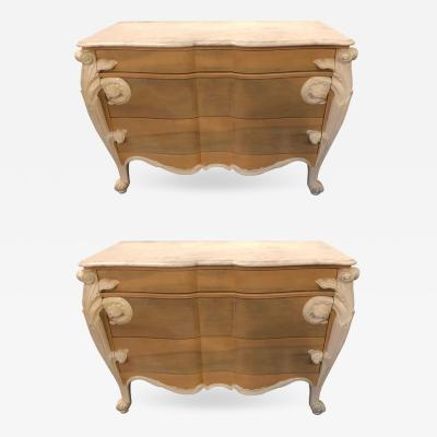 Hollywood Regency Louis XV Commode Nightstands or Dressers by Casaragi a Pair