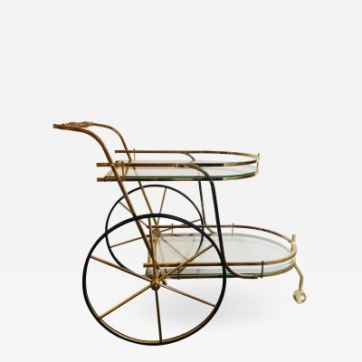 Hollywood Regency Style Serving Cart Tea Cart