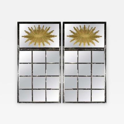 Hollywood Regency Style Venetian Mirrors a Pair