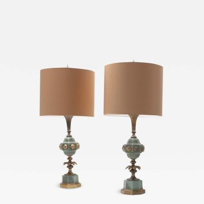 Hollywood Regency Table Lamps 1950s