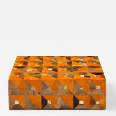 Horn Orange Bone Geometric Box