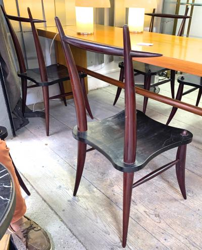 Horn shaped awesome set of eight dinning chairs