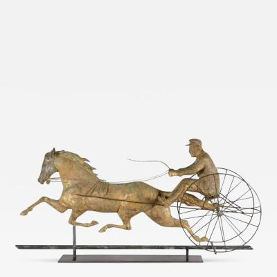 Horse George M Patchen with a Sulkey and Driver Large Weathervane