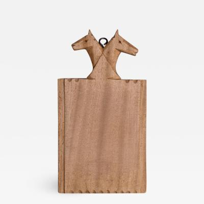 Horse Head Crested French Cutting Board