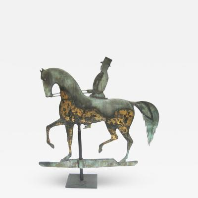 Horse and Gentleman Rider Weathervane