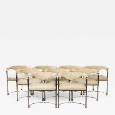 Horst Bruning A set of 9 armchairs model 6911