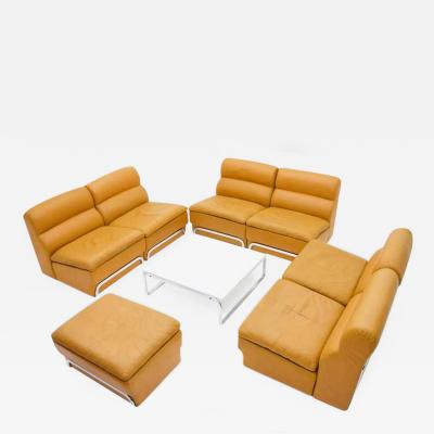 Horst Bruning Modular Seating Group Coffee Table Leather Sofa by Horst Br ning for Kill 1970