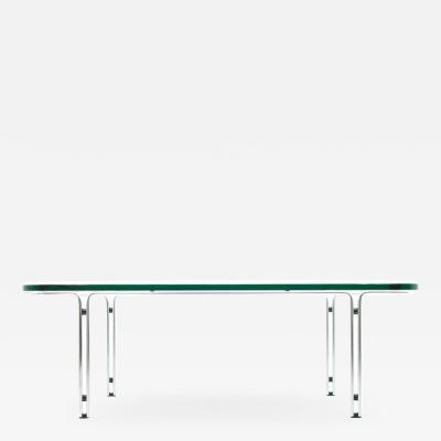 Horst Bruning Steel and Glass Coffee Table by Horst Bruning for Kill International 1960s